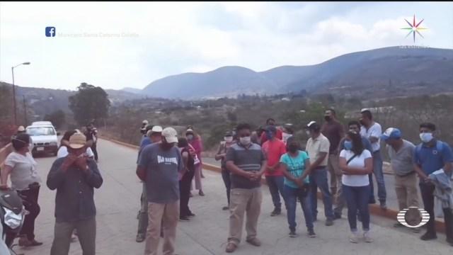 Foto: Habitantes Oaxaca Impiden Sepelio Muerta Por Coronavrius 15 Mayo 2020