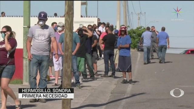 Foto: Sonora Hermosillo Largas Filas Comprar Cerveza 6 Mayo 2020