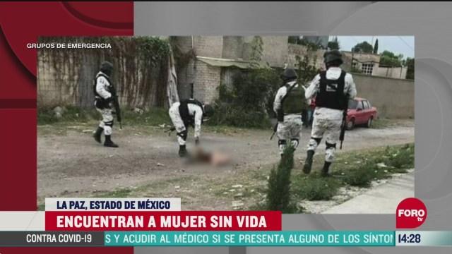 FOTO: 24 de mayo 2020, hallan muerta a mujer con huellas de violencia en la paz estado de mexico