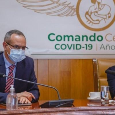 Hugo López-Gatell, subsecretario de Salud, y Zoé Robledo, director general del IMSS. Twitter/@HLGatell