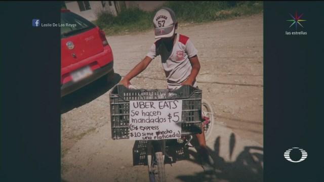 iker el nino que hace mandados por 5 pesos para comprarse su tablet en tamaulipas