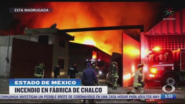 incendio consume fabrica en valle de chalco estado de mexico