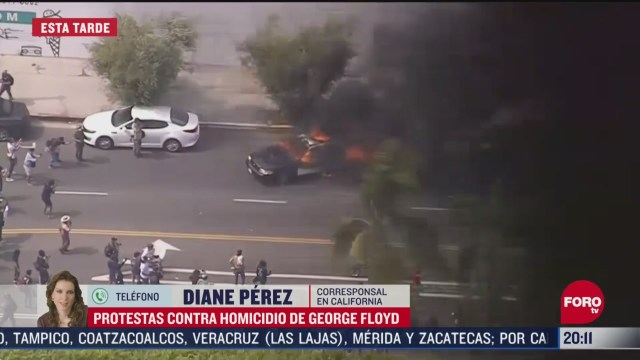 FOTO: 30 de mayo 2020, incidentes en los angeles california por muerte de george floyd