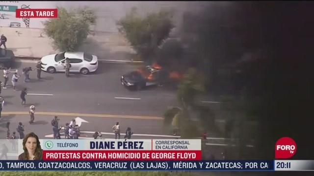 FOTO: 30 de mayo 2020, incidentes en los angeles california por muerte de george floyd
