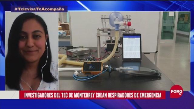 FOTO: investigadores del tec de monterrey disenan ventilador para pacientes con coronavirus