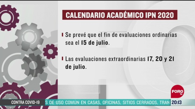 ipn modificara calendario academico