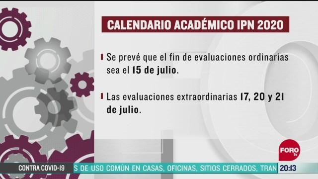ipn modificara calendario academico