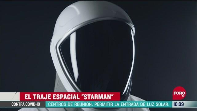 FOTO: 30 de mayo 2020, los nuevos trajes de los astronautas tienen estilo cinematografico