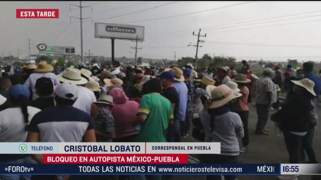 FOTO: manifestantes bloquean autopista mexico puebla