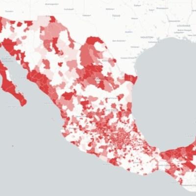 Mapa y casos de coronavirus en México del 22 de mayo de 2020