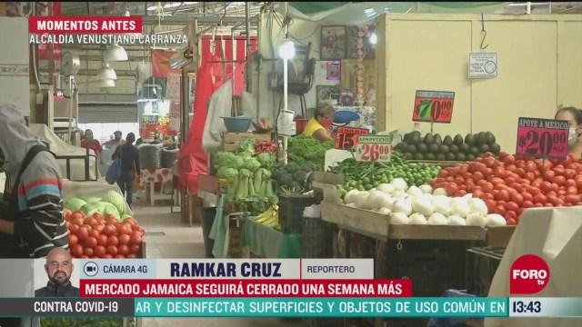 FOTO: mercado de jamaica permanecera cerrado por coronavirus