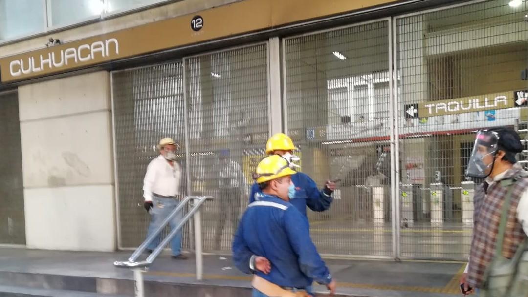Metro de CDMX suspende servicio en estación Culhuacán por falla eléctrica