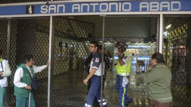 Cierran estación del Metro San Antonio Abad en CDMX