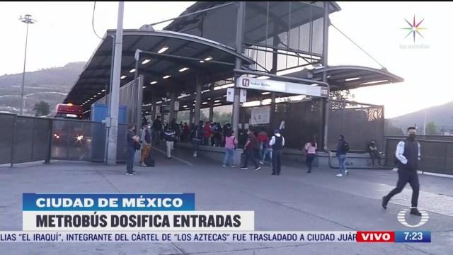 metrobus dosificara entrada de pasajeros por coronavirus