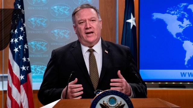 El secretario de Estados Unidos (EEUU), Mike Pompeo