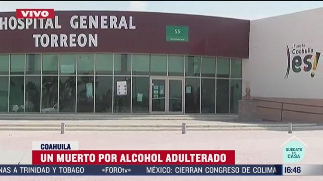 FOTO: muere joven tras consumir alcohol adulterado en coahuila