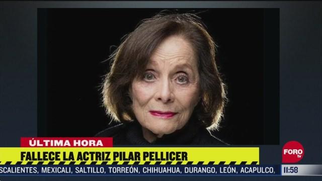 FOTO: 16 de mayo 2020, muere la actriz pilar pellicer