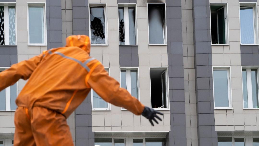 Cinco pacientes con COVID-19 mueren en incendio en Rusia