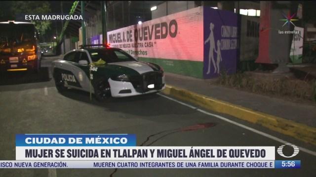 mujer se suicida al sur de la ciudad de mexico