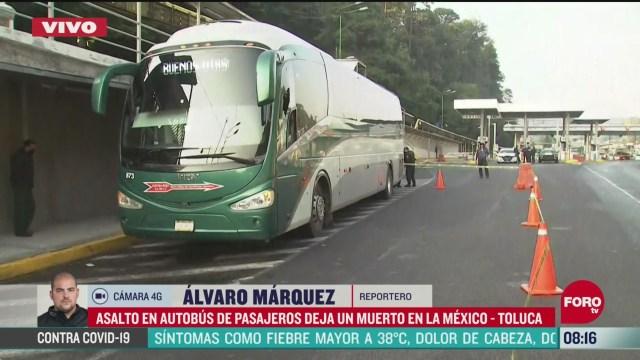 pasajero de autobus fallece durante un asalto en la mexico toluca