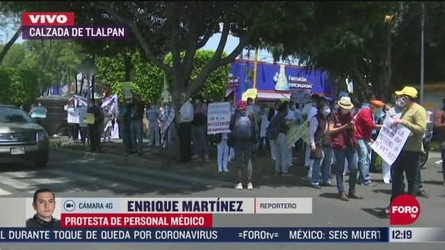personal medico del iner protesta por falta de equipo medico
