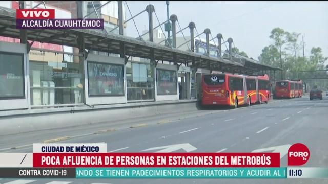 poca afluencia de usuarios en estaciones del metrobus