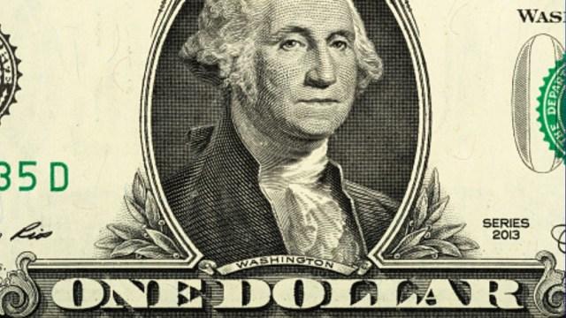 Billete de un dólar. Getty Images
