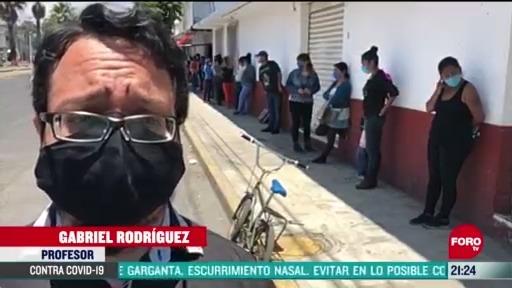 FOTO: 1 de mayo 2020, profesor convierte su casa en centro de acopio en nezahualcoyotl