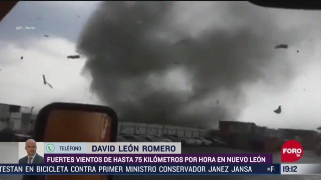 Foto: Video Tornado Apocada Vientos Nuevo León 8 Mayo 2020