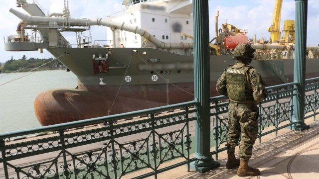 Aspectos generales en las inmediaciones del puerto marítimo en Tampico. (Foto: Cuartoscuro/archivo)