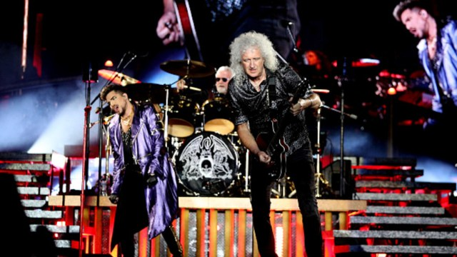 Adam Lambert se presenta junto a Roger Taylor y Brian May, de la agrupación Queen, en Sydney. (Foto: Getty Images)
