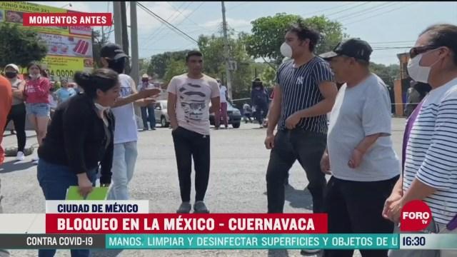 FOTO: reabren carretera mexico cuernavaca tras entrega de apoyos