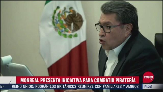 FOTO: ricardo monreal presenta iniciativa contra pirateria