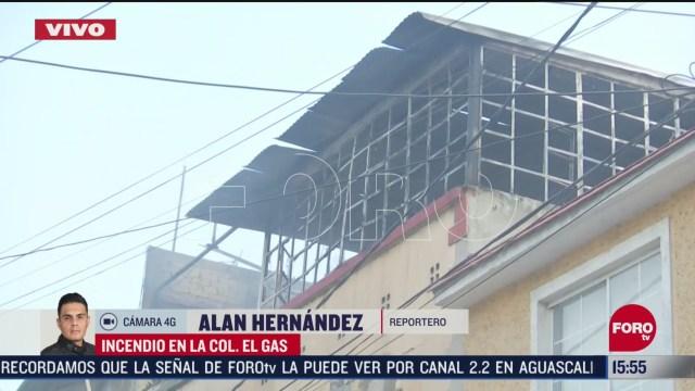 FOTO: se incendia vivienda en colonia el gas en azcapotzalco