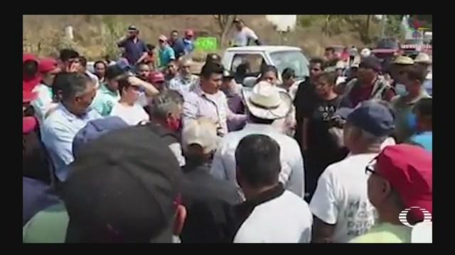 Foto: Bloqueos Zitácuaro Rumor Contagiar Coronavrius Población 12 Mayo 2020