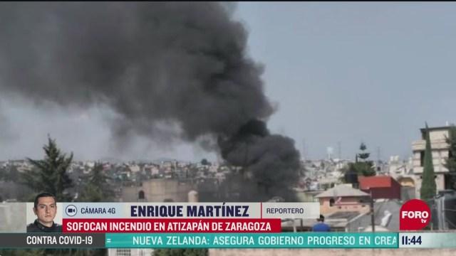 sofocan incendio en fabrica de productos de belleza en atizapan de zaragoza