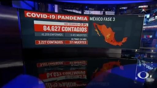 suman 9 mil 415 muertos por coronavirus en mexico