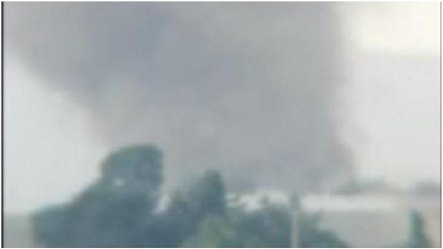 Foto: Captan en video tornado de agua en Puebla, 10 de mayo de 2020 (Twitter)
