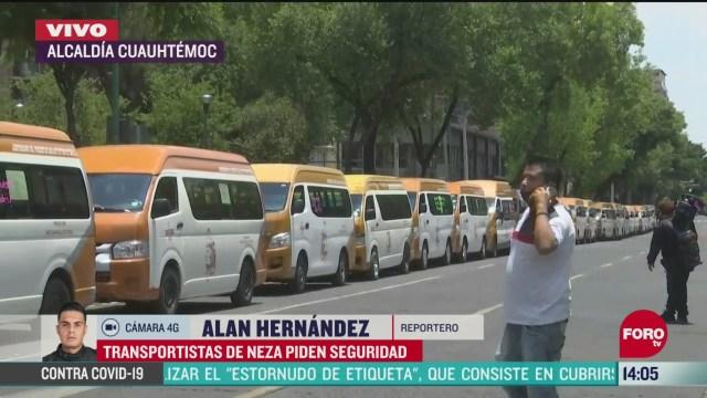 FOTO: transportistas de nezahualcoyotl piden seguridad