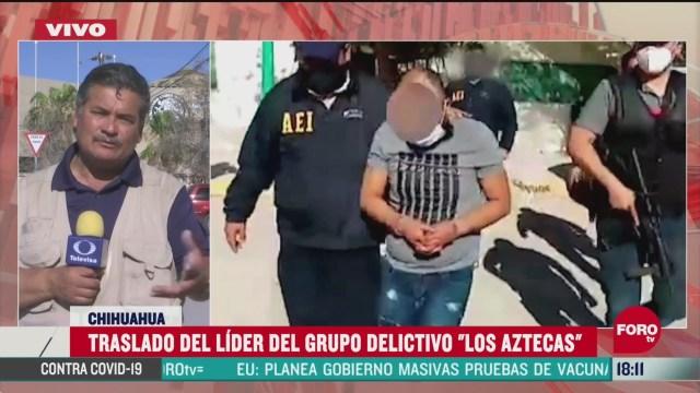 FOTO: traslada a presunto lider de los aztecas a chiapas