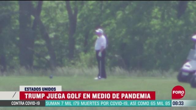 FOTO: 24 de mayo 2020, trump juega golf en medio de la pandemia del coronavirus