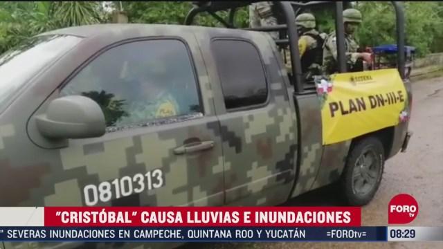 """FOTO: 6 de junio 2020,Tormenta tropical """"Cristóbal"""" deja daños en 75 municipios de México: Protección Civil"""