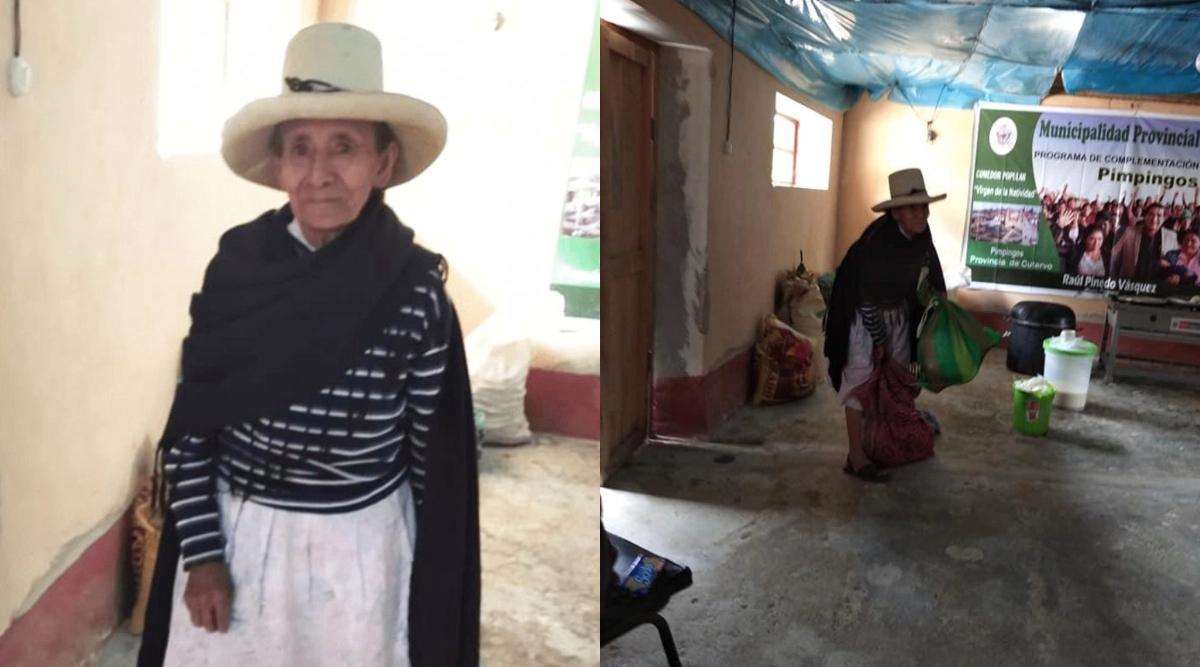 Abuelita que dona cosecha en Perú