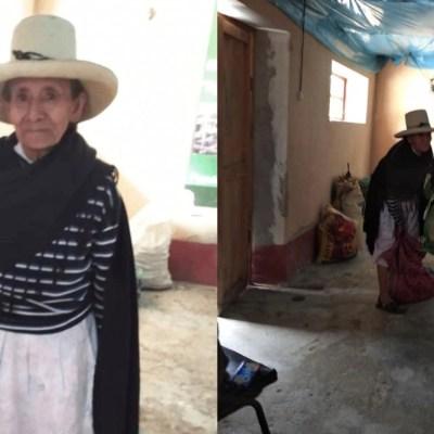 Abuelita campesina dona su cosecha para enfermos de COVID-19