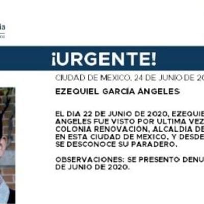 Activan Alerta Amber para localizar a Ezequiel García Ángeles