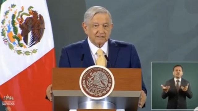 Andrés Manuel López Obrador, presidente de México, durante su conferencia matutina en Hidalgo. (Foto: YouTube Presidencia)