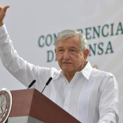 Andrés Manuel López Obrador, presidente de México, durante la conferencia mañanera. (Foto: Gobierno de México)