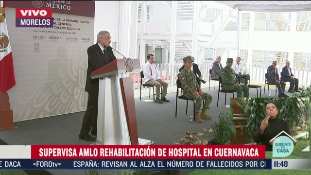 amlo supervisa rehabilitacion de hospital en cuernavaca morelos