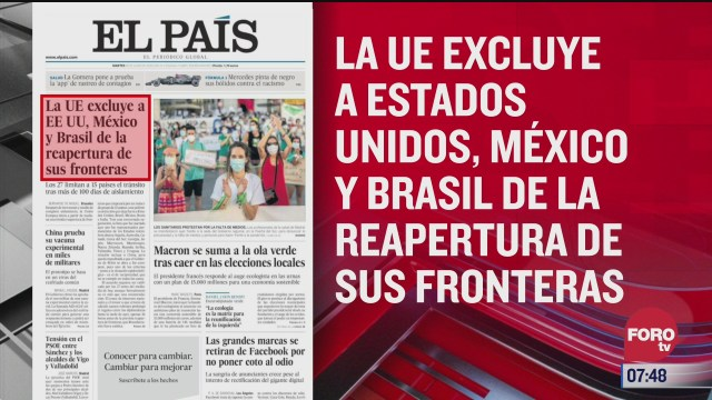 analisis de las portadas nacionales e internacionales del 30 de junio del