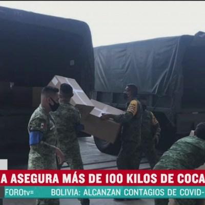 Aseguran 111 kilos de cocaína en Durango